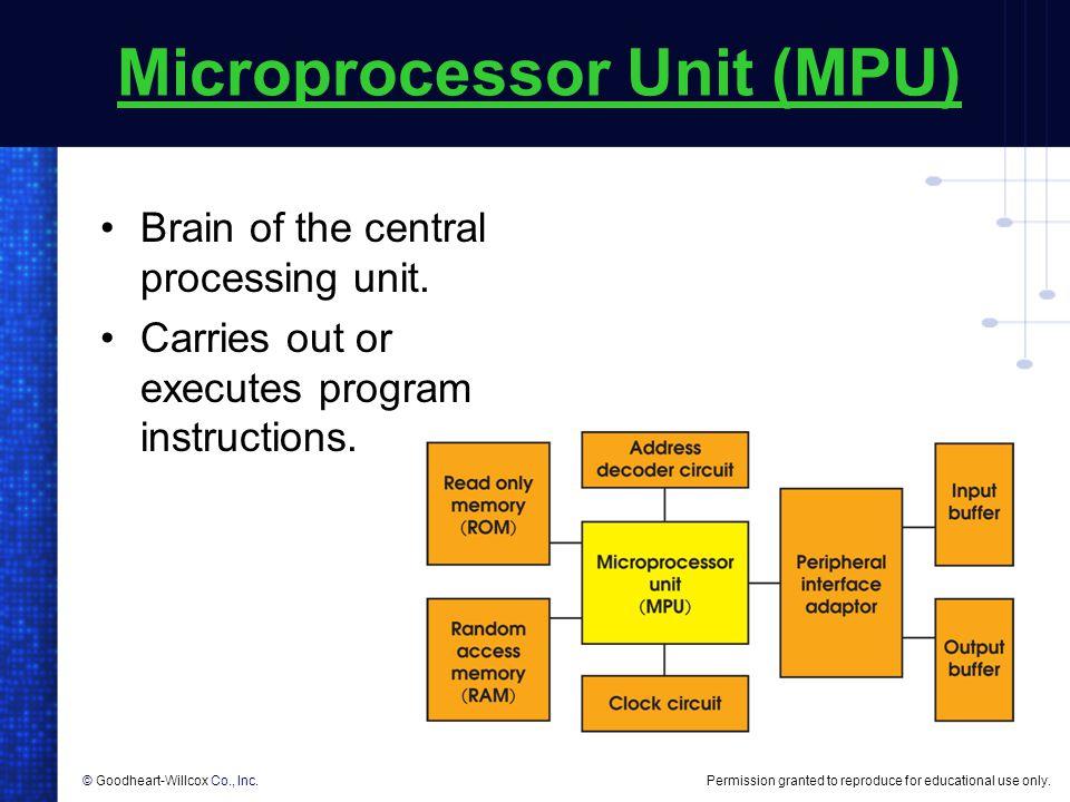 Microprocessor Unit (MPU)