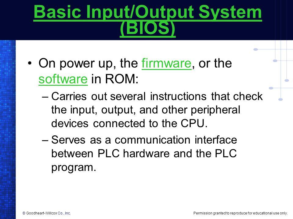 Basic Input/Output System (BIOS)