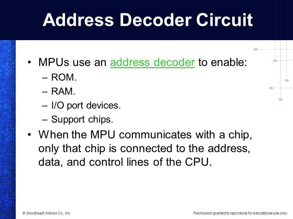 Address Decoder Circuit