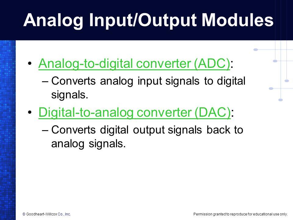 Analog Input/Output Modules