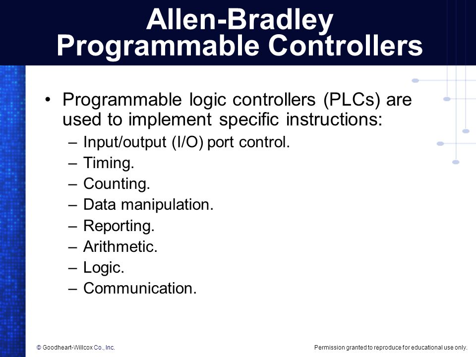 Allen-Bradley Programmable Controllers