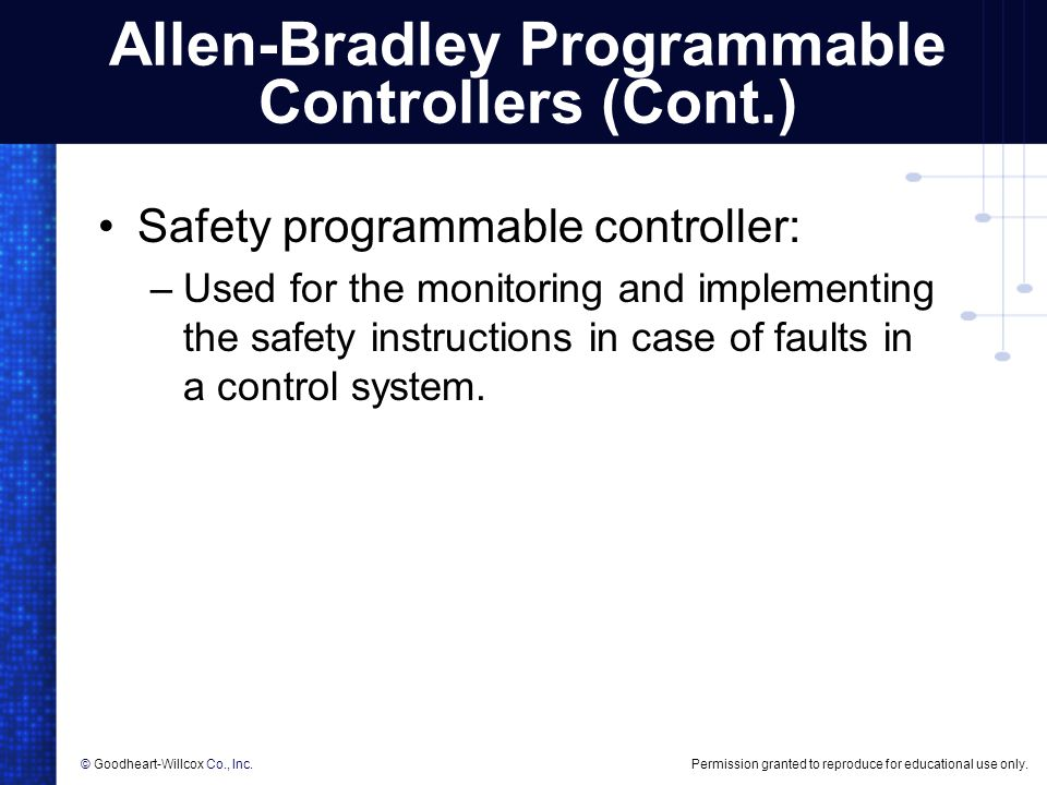 Allen-Bradley Programmable Controllers (Cont.)
