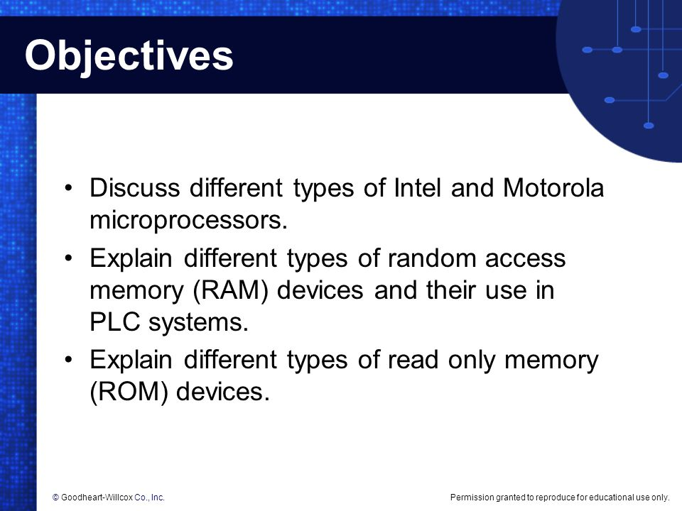 Objectives Discuss different types of Intel and Motorola microprocessors.