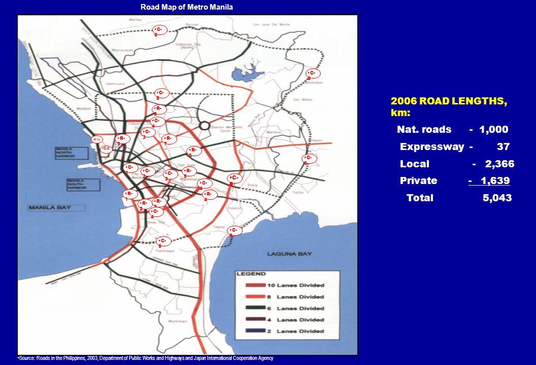 Road Map of Metro Manila