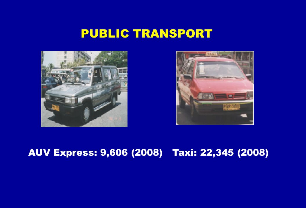 PUBLIC TRANSPORT AUV Express: 9,606 (2008) Taxi: 22,345 (2008)