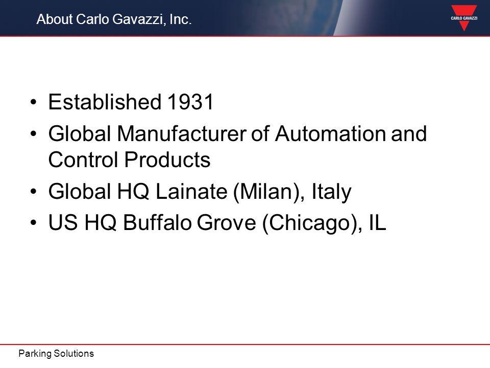About Carlo Gavazzi, Inc.