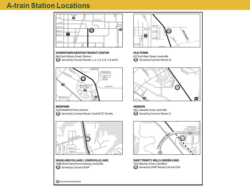 A-train Station Locations