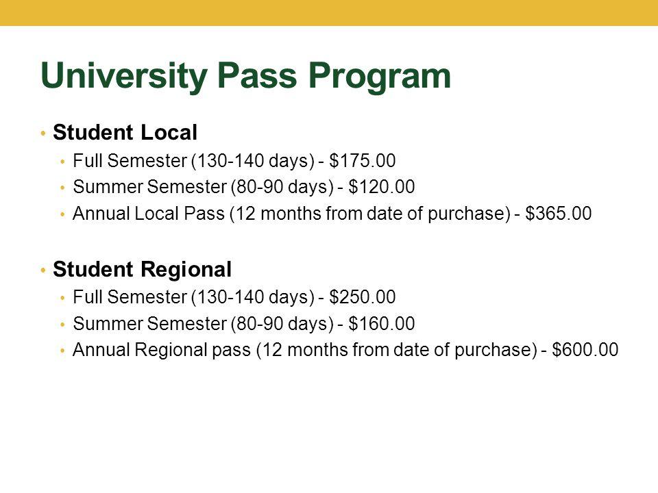 University Pass Program
