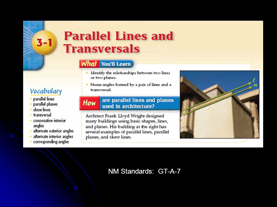 NM Standards: GT-A-7