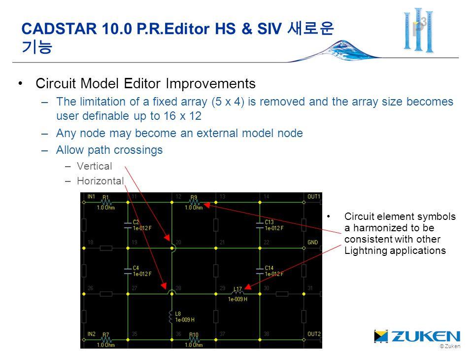 CADSTAR 10.0 P.R.Editor HS & SIV 새로운 기능