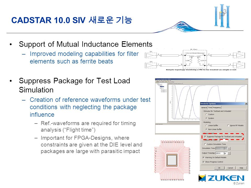 CADSTAR 10.0 SIV 새로운 기능 Support of Mutual Inductance Elements