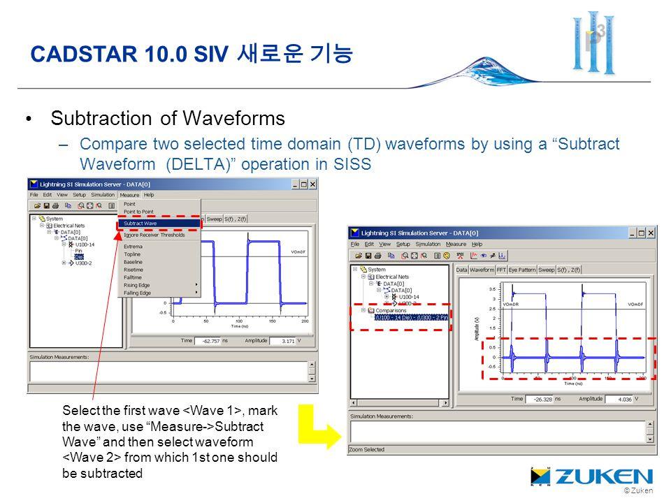 CADSTAR 10.0 SIV 새로운 기능 Subtraction of Waveforms