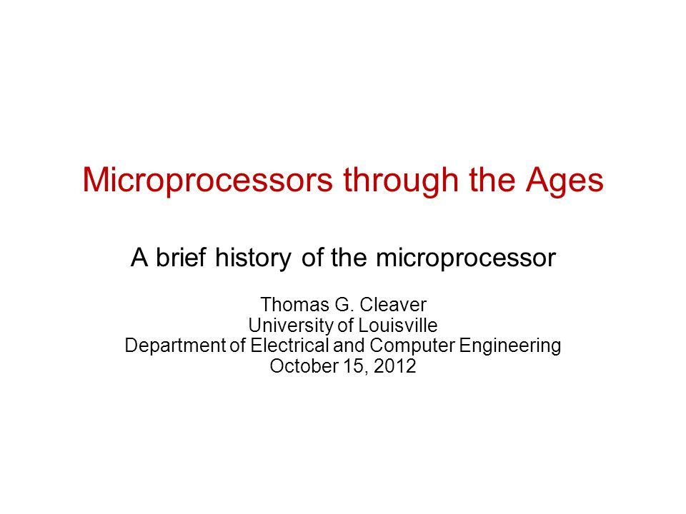 an introduction to the history of the microprocessor Introduction with the advent of  power of microprocessors power of microprocessor depends on the number of bits that processor  microprocessor history.