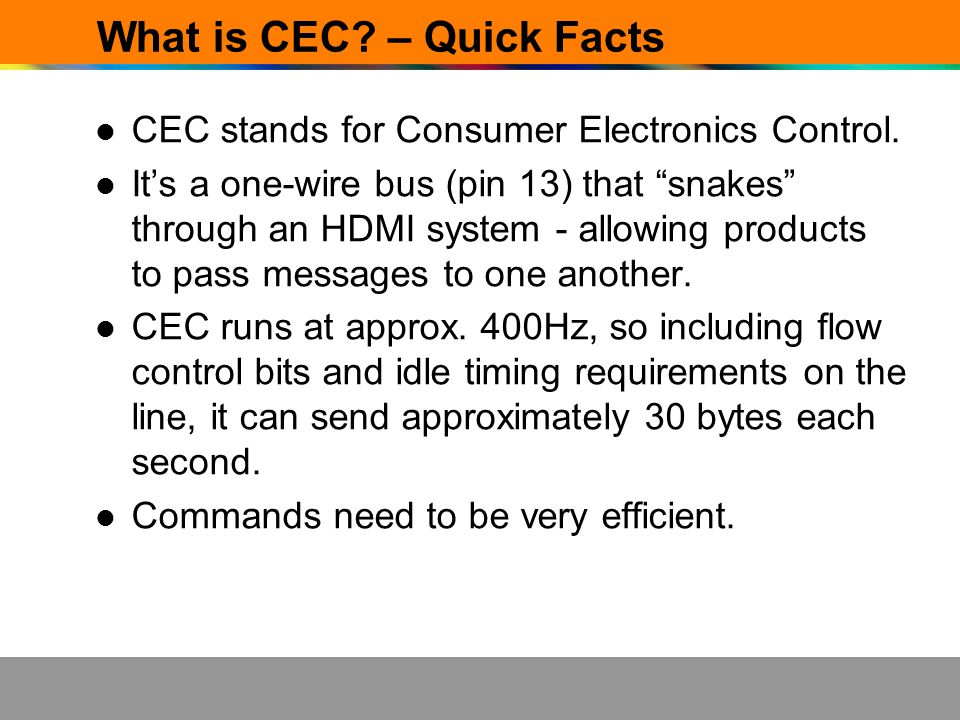 What is CEC – Quick Facts
