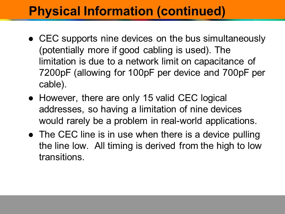 Physical Information (continued)