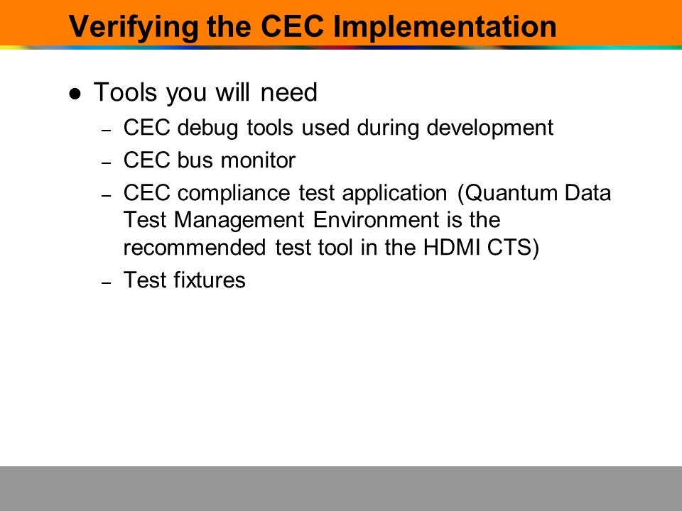 Verifying the CEC Implementation