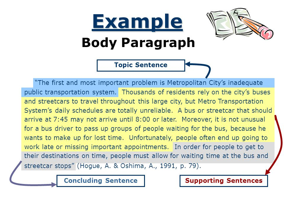 Example Body Paragraph