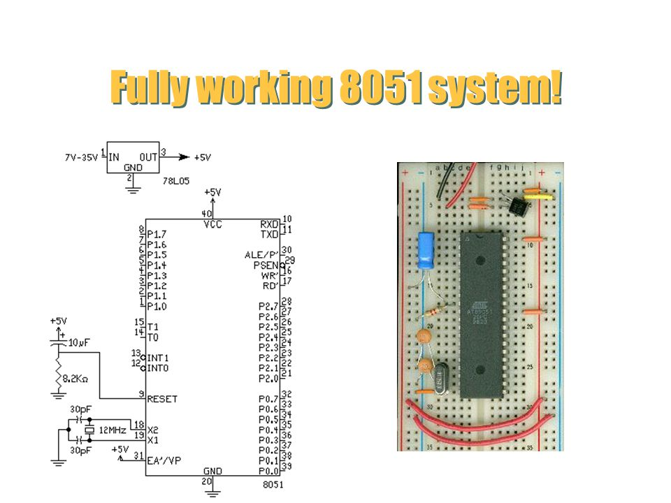 Fully working 8051 system!