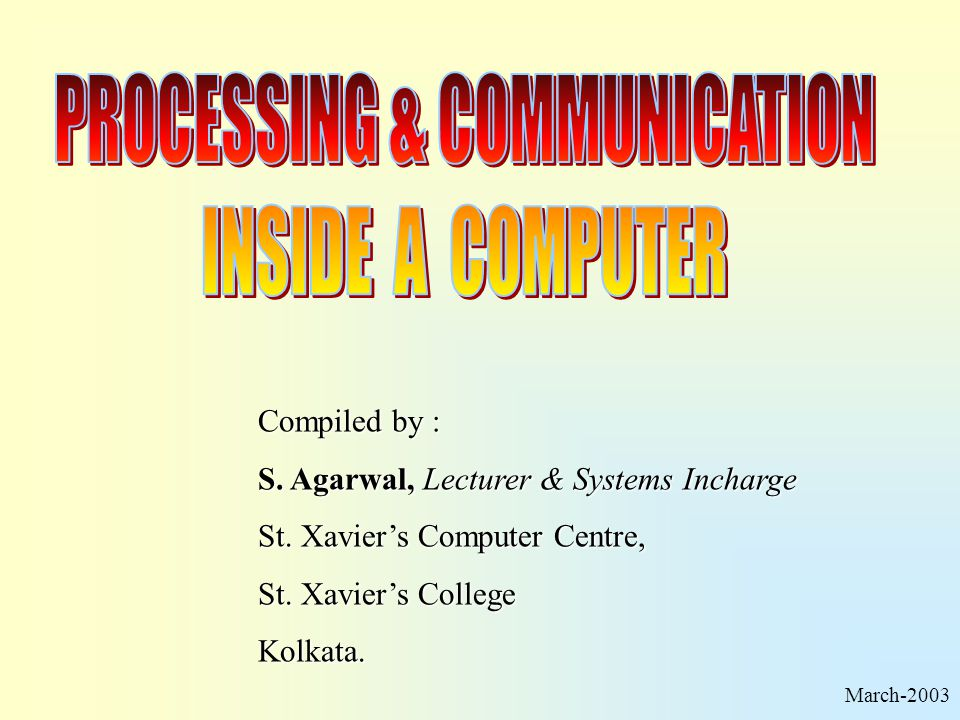 PROCESSING & COMMUNICATION