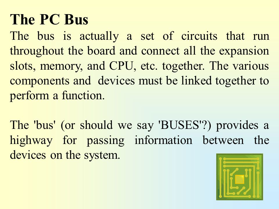 The PC Bus