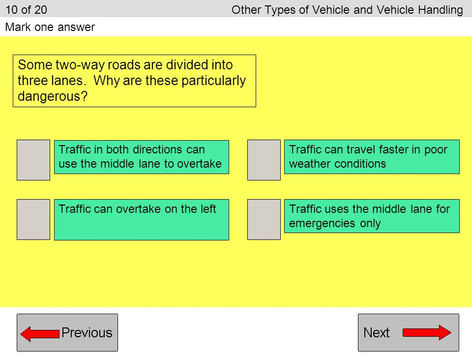 10 of 20 Other Types of Vehicle and Vehicle Handling