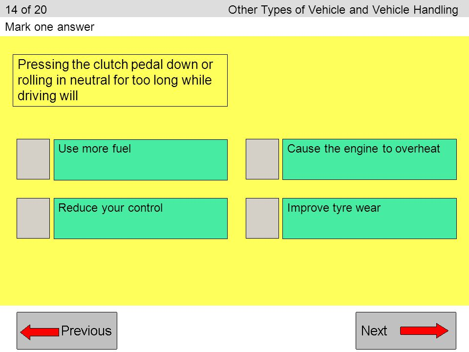 14 of 20 Other Types of Vehicle and Vehicle Handling