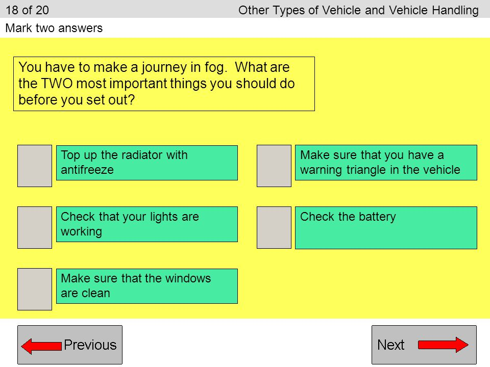 18 of 20 Other Types of Vehicle and Vehicle Handling