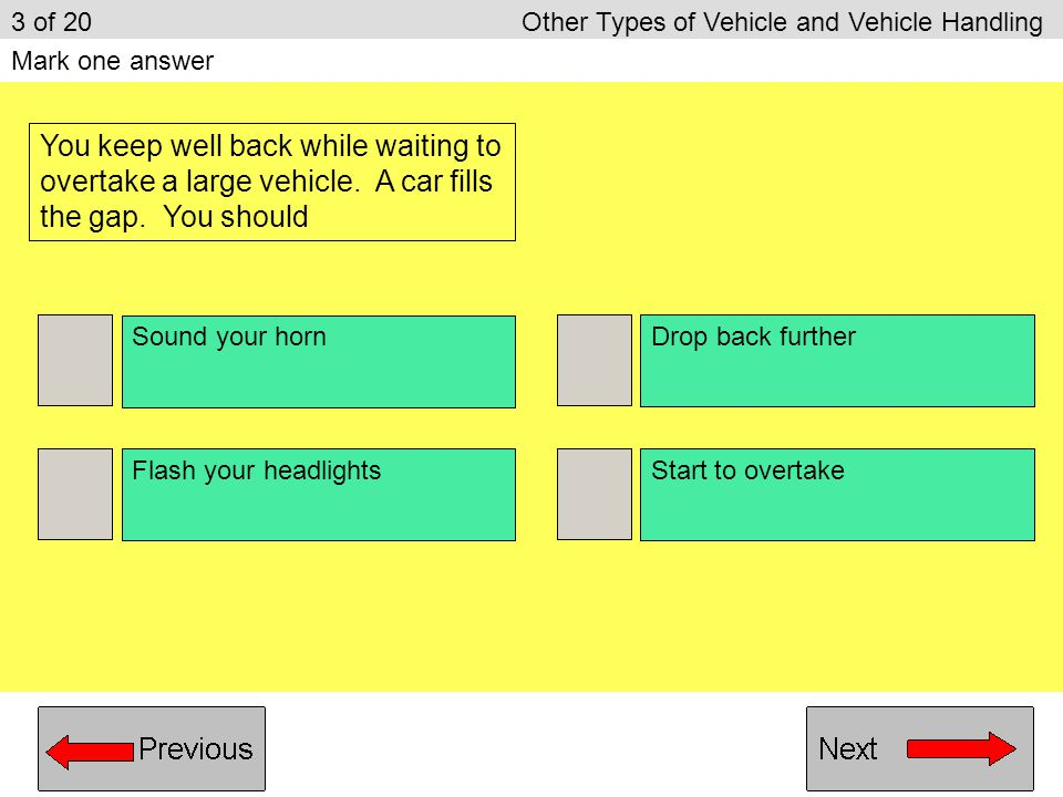 3 of 20 Other Types of Vehicle and Vehicle Handling