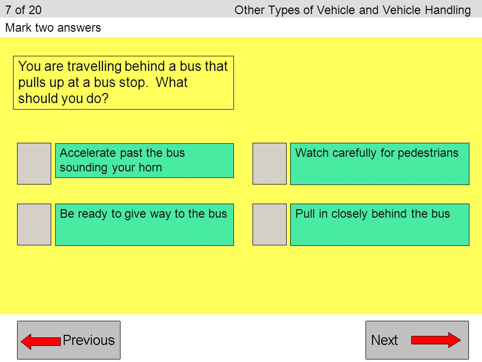 7 of 20 Other Types of Vehicle and Vehicle Handling