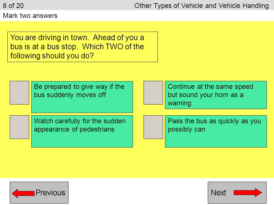 8 of 20 Other Types of Vehicle and Vehicle Handling