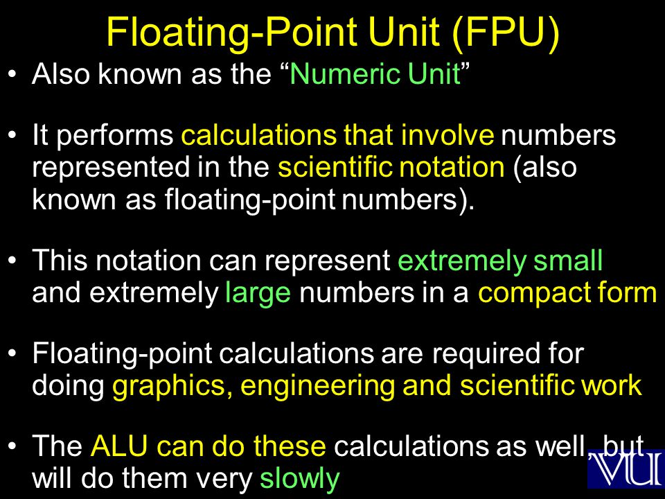 Floating-Point Unit (FPU)