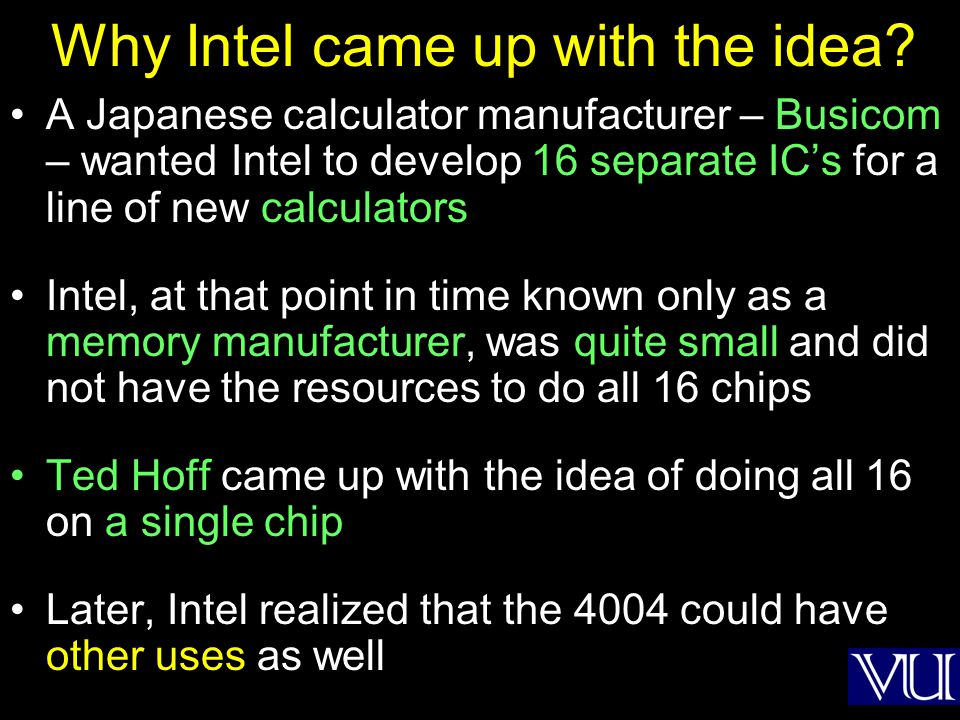 Why Intel came up with the idea