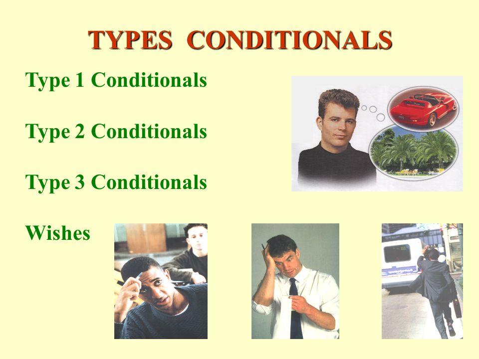 TYPES CONDITIONALS Type 1 Conditionals Type 2 Conditionals