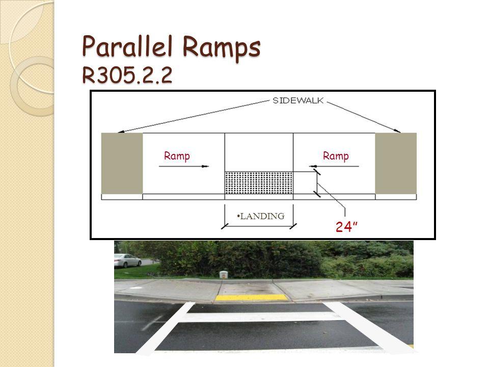 Parallel Ramps R305.2.2 24 Ramp LANDING