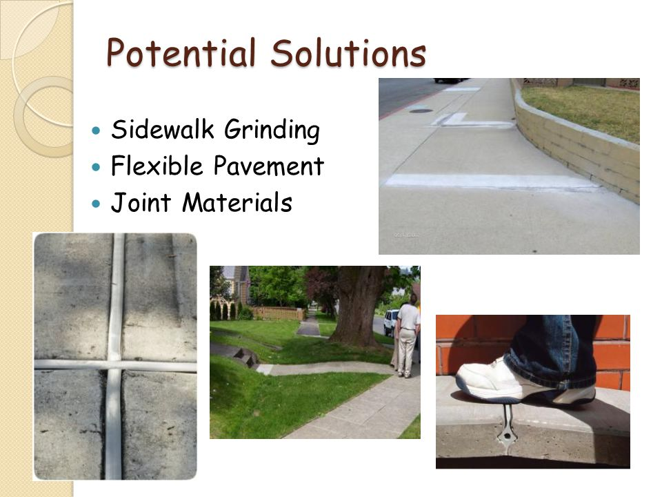Potential Solutions Sidewalk Grinding Flexible Pavement