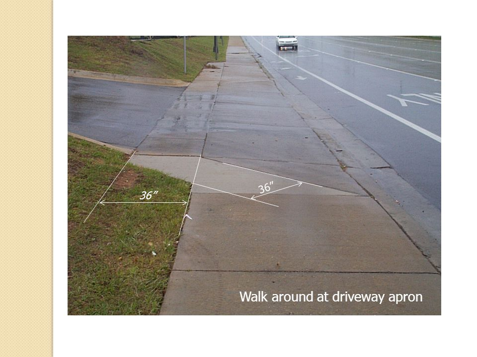 Walk around at driveway apron