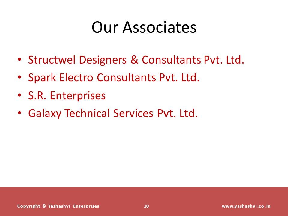 Our Associates Structwel Designers & Consultants Pvt. Ltd.