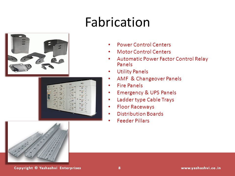 Fabrication Power Control Centers Motor Control Centers