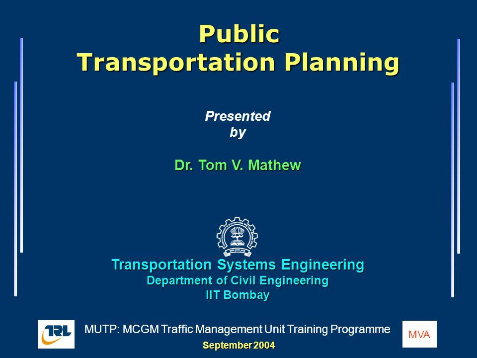 Public Transportation Planning