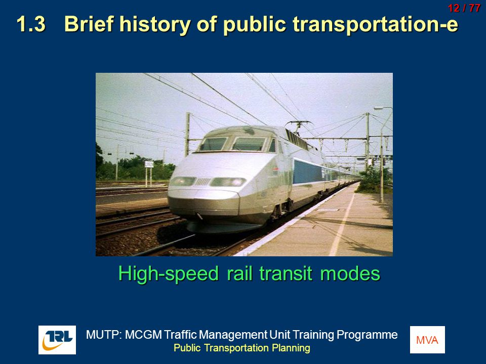 1.3 Brief history of public transportation-e