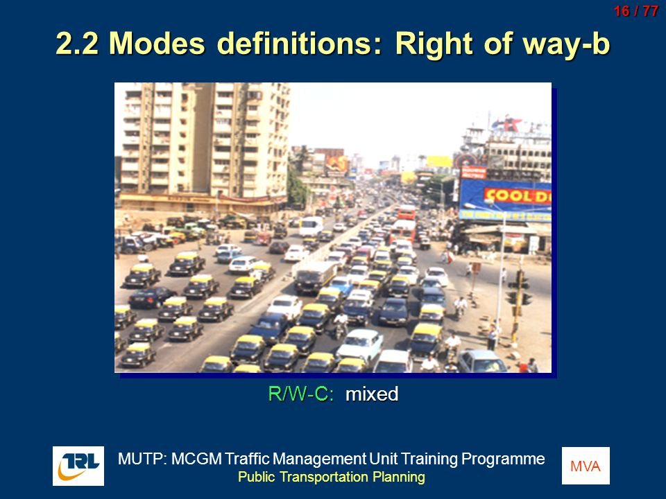 2.2 Modes definitions: Right of way-b