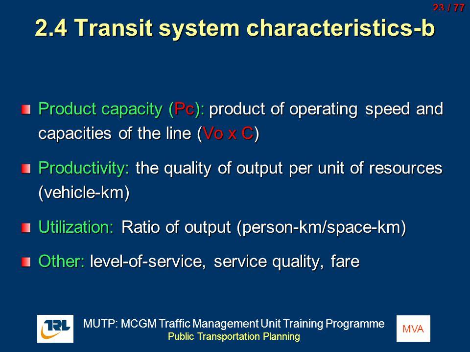 2.4 Transit system characteristics-b