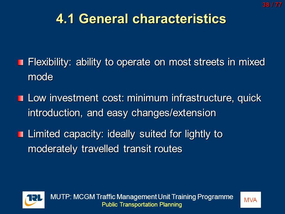 4.1 General characteristics
