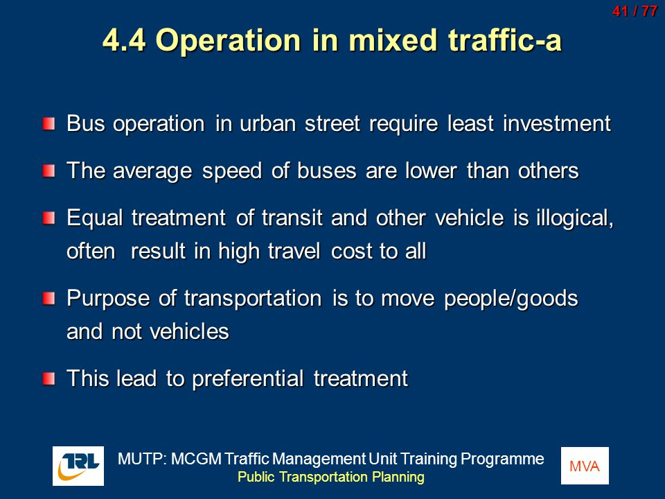 4.4 Operation in mixed traffic-a