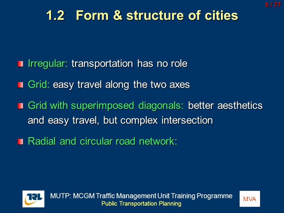 1.2 Form & structure of cities