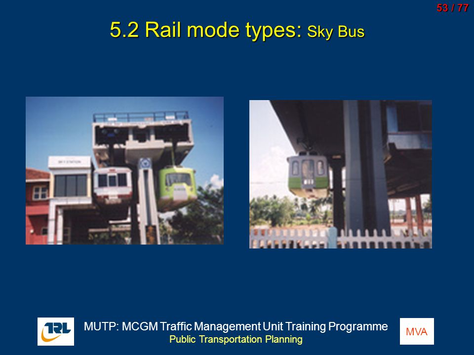 5.2 Rail mode types: Sky Bus
