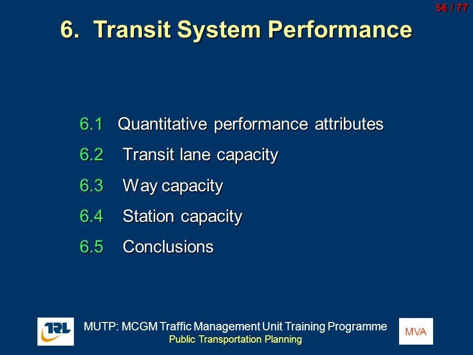 6. Transit System Performance