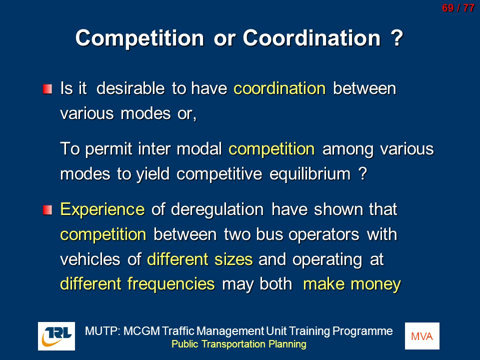 Competition or Coordination