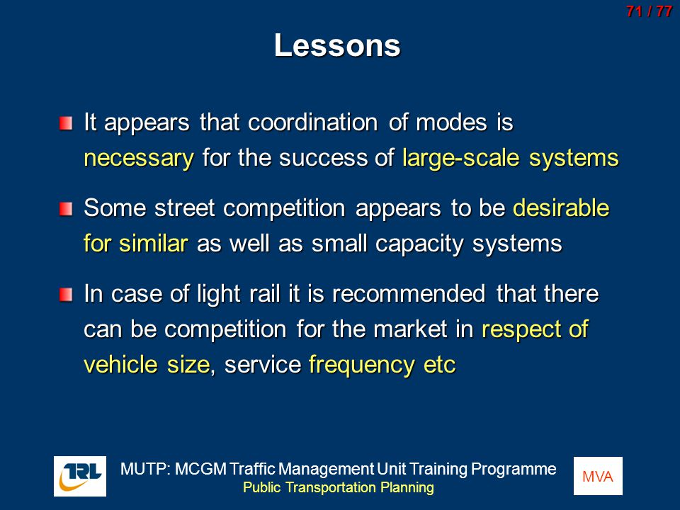 Lessons It appears that coordination of modes is necessary for the success of large-scale systems.