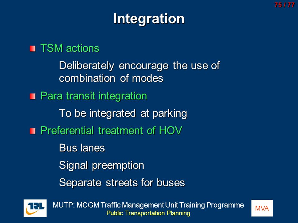 Integration TSM actions